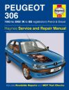 Haynes Workshop Manual Peugeot 306 Petrol and Diesel (93 - 02) K to 02